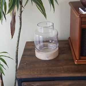 🐳Ashland Glass And Wood Container Candle Holder
